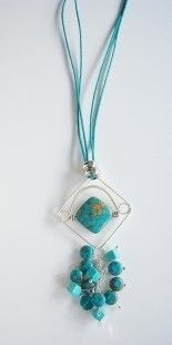Collier turquoise mozaic
