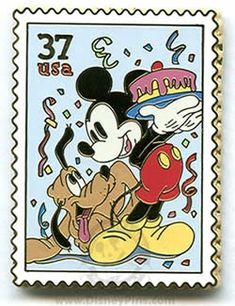 disney postal stamps | disney postage stamp collector's pin | Disney pins