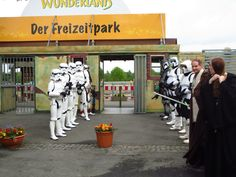 My first event as a 501st Stormtrooper: Taunus Wunderland on the 9th of May     That's me...the tallest stormtrooper on the left. ;)