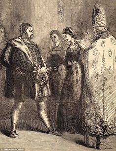 Marriage of Henry VIII and Catherine Parr (print), English School, century) / Private Collection Catherine Parr, Catherine Of Aragon, Wives Of Henry Viii, King Henry Viii, Anne Of Cleves, Anne Boleyn, Tudor History, British History, Thomas Cranmer