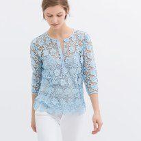 zara guipure lace top | think spring | hellohoneypot blog