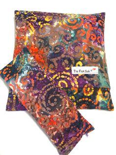Microwave FLAX HEATING PAD - eye pillow - Christmas Gift - Microwavable - Batik - washable covers - Arthritis - Fibromyalgia relief