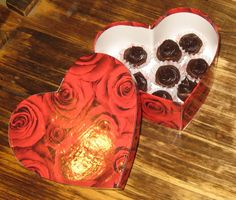 Chocolate in heart box