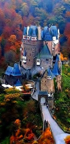 Burg Eltz Castle, Germany fall foliage