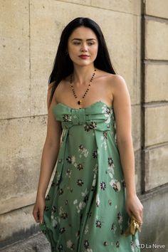 Kristina Bazan Haute Couture Street Style Valentino Paris Fashion Week FW17