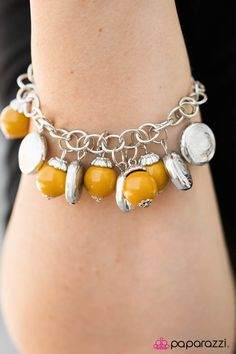 Something Old, Something New - Yellow $5.00 Bracelet  Order today at https://paparazziaccessories.com/shop/products/something-old-something-new-yellow/59094/