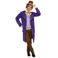 Adult Willy Wonka & the Chocolate Factory Willy Wonka Deluxe Costume, Multicolor