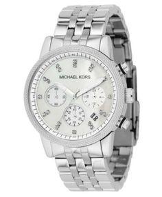 cecfcd185c1d Michael Kors Women s Chronograph Ritz Stainless Steel Bracelet Watch 36mm  MK5020