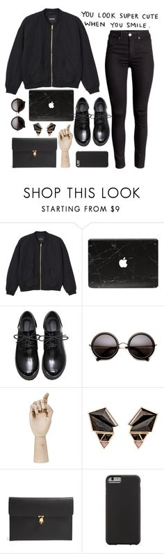 """You look super cute when you smile"" by dianaahnbin ❤ liked on Polyvore featuring Monki, HAY, Nak Armstrong, Alexander McQueen, Case-Mate, women's clothing, women, female, woman and misses"