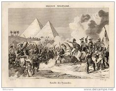 Engraving of the Battle of the Pyramids.
