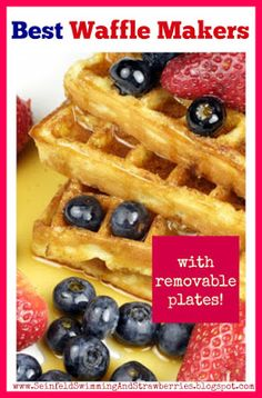 The Best Waffle Makers with Removable Plates -- easy clean-up, just stick the plates in the dishwasher! Read about different waffle makers with removable plates and discover which one is best for you -- www.SeinfeldSwimmingAndStrawberries.blogspot.com Best Waffle Maker, Business Advice, Data Visualization, Blog Tips, Social Media Tips, Waffles, Dishwasher, Good Things, Entertaining