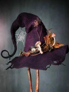 Halloween women cosplays hat witch vintage party hat - Green / M Costume Halloween, Moldes Halloween, Manualidades Halloween, Witch Costumes, Halloween Crafts, Halloween Decorations, Vintage Halloween, Halloween Halloween, Halloween Makeup