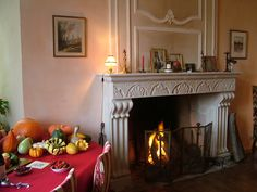 Keep close to the fireplace in Automn