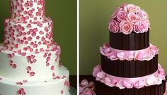 Both so pretty!  From projectwedding.com.