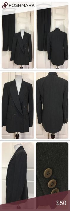 Missoni Donna Pantsuit Classic Missoni Donna dark gray pantsuit. Double breasted jacket.  No tags on pants. Only flaw noted is on inside of jacket where buttons are reenforced. Few of reinforcements are cracked. Buttons are fine. Missoni Jackets & Coats Blazers