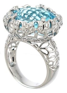 Floral Blue Topaz Cocktail Ring - Supreme Jewelry Corp. - Product Search - JCK Marketplace