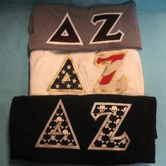 One of our on sale packs, available now. Click through to see how many are available (usually one) and for more information on the items included. It's practically a steal! Custom Greek Apparel, Sorority Outfits, Delta Zeta, Greek Clothing, Bid Day, Drink Sleeves, American Apparel, Crew Neck Sweatshirt, Screen Printing