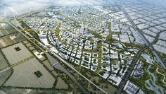 In an international design competiton for the rapid development of satellite cities along Chinese high speed rail corridors, Skidmore, Owings & Merrill's Beijing Bohai Innovation City master plan has just been named the winning submission.