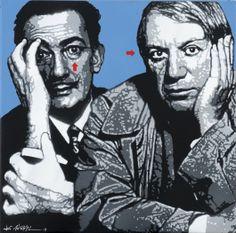 Dali- Picasso by Jef Aérosol