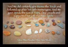 Moses, The Torah, Jesus, the Gospel, the pure (AKA holy) spirit. #MoreFamiliarThanYouThink