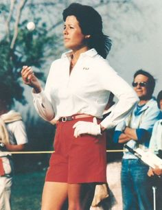 My idol: Nancy Lopez, female golf legend. She went to the University of Tulsa, my alma mater.