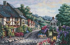 Gold Collection Memory Lane Counted Cross Stitch Kit-17 X11
