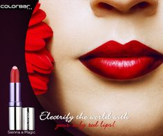 Cast a spell on the world with eye-catching red lips.   Get ruby red lips that define your look for tonight with ColorBar's crème touch lipsticks:   http://bit.ly/CremeTouchLipstick  #ColorBar #Ruby #Red