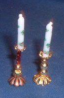 Miniatures pour maison de poupées, vitrines,  candlestick tutorial