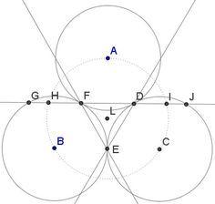 Golden Ratio In Three Tangent Circles