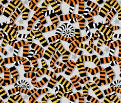 Tiger Toes and Laundry Terrors fabric by spellstone on Spoonflower - custom fabric