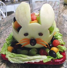 carved fruit designs To cute for Easter