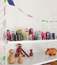 displaying my collection of stacking dolls in her room Little Babies, Little Ones, Clever Kids, Modern Toys, Baby Mine, Dream Doll, Wooden Ornaments, Fashion Room, Kid Spaces