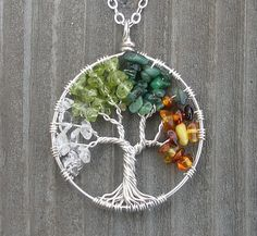 Four Seasons Tree of Life Necklace - Medium Size, Partially Coiled by ethorart, via Flickr