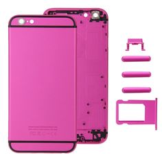 [$44.59] iPartsBuy Full Assembly Replacement Housing Cover for iPhone 6S, Including Back Cover & Card Tray & Volume Control Key & Power Button & Mute Switch Vibrator Key(Magenta)