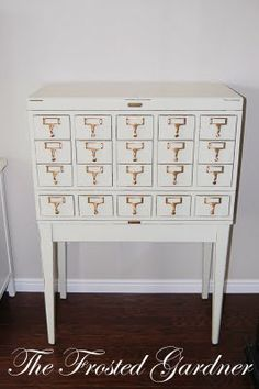 i want a card catalog to refinish like this one!