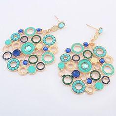 Online Shop marca de moda brincos grandes de festa boêmio mulheres nova safra 2014 brinco de ouro jóias atacado brincos ouro vintage|Aliexpress Mobile