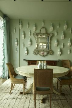 trend~ wall brackets - shades of green with brackets ~ Miles Redd design