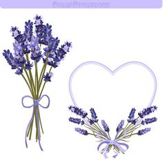 Lavender Flower Frame and Clipart 300 dpi PNG by Scrapstorybook