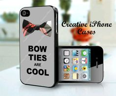 Bow Ties are Cool - iPhone 4/4S Case, iPhone 5 Case, iPod Touch 4th Generation Case, iPod Touch 5th Generation Case via Etsy #DoctorWho