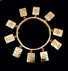 The Ten Commandments inspired bracelet by IDIG on Etsy