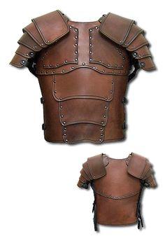 Larp Armor - Warrior, brown - Torso Armor - Leather Armour - Armour