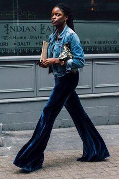 The Coolest Velvet Pants Of The Season