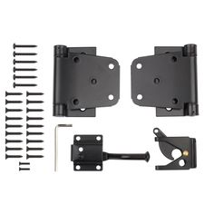 Stanley National Hardware Steel Painted Gate Hardware Kit