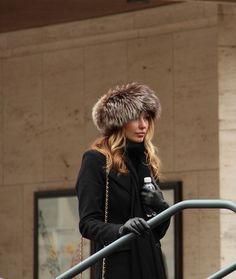 I love me a fur hat anywhere, any time