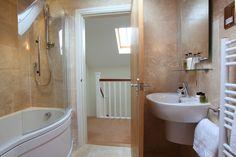 Tavertine bathroom