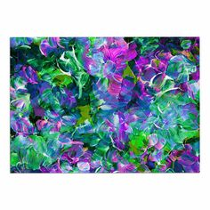 East Urban Home Ebi Emporium Bloom on! Exotic Green/Purple Area Rug Rug Size: x Dog Food Container, Purple Area Rugs, Rug Size, Size 2, Throw Rugs, Green And Purple, Pet Supplies, Exotic, Bloom