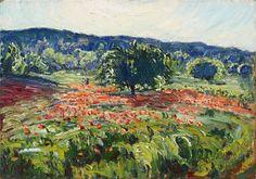 """RENÉ SEYSSAUD (1867 - 1952) - """"Coquelicots et cerisiers"""" 1925"""