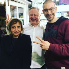 Rob and Pauline who visited us for a Christmas lunch earlier today   Rob has been vegan since 1980! He runs vegan.london page with info about vegan events and places to eat delicious vegan food What a true inspiration! #veganlondon #londonvegan @vegan.dot.london @robzvegan