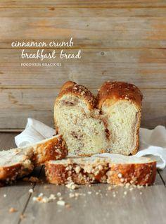 Moist Cinnamon Crumb Breakfast Bread | Foodness Gracious