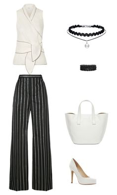 # 03 - Black & White by sarittam on Polyvore featuring polyvore, fashion, style, MaxMara, Balenciaga, Jessica Simpson, Bling Jewelry and clothing
